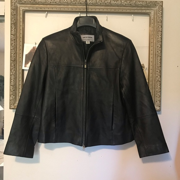 Bernardo Jackets & Blazers - Black leather motor jacket